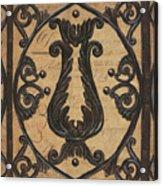 Vintage Iron Scroll Gate 2 Acrylic Print by Debbie DeWitt