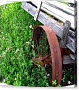 Vintage Irrigation Wagon Acrylic Print