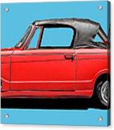 Vintage Italian Automobile Red Tee Acrylic Print