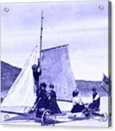 Vintage Ladies And Gentlemen Sail On The Desert Queen Acrylic Print