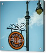 Vintage Lamp And Sign Acrylic Print