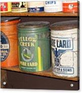 Vintage Lard Can Acrylic Print
