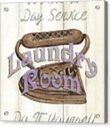 Vintage Laundry Room 1 Acrylic Print