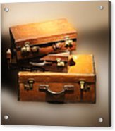 Vintage Leather Suitcases Acrylic Print