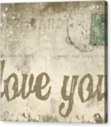 Vintage Love Letters Acrylic Print