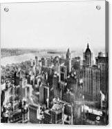 Vintage Lower Manhattan Skyscraper Photo - 1913 Acrylic Print