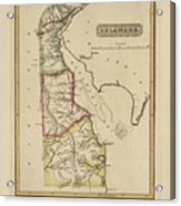 Antique Map Of Delaware Acrylic Print