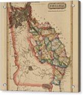Antique Map Of Georgia Acrylic Print