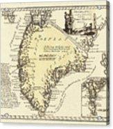 Vintage Map Of Greenland - 1791 Acrylic Print