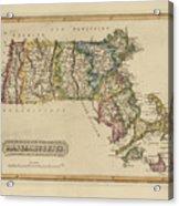 Antique Map Of Massachusetts Acrylic Print