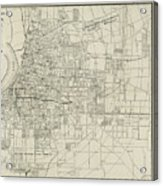 Vintage Map Of Memphis Tennessee - 1911 Acrylic Print