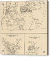 Vintage Map Of Spofford And Chesterfield Nh - 1892 Acrylic Print