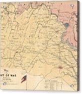 Vintage Map Of The Virginia Battlefields - 1861 Acrylic Print