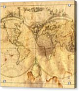 Vintage Map Of The World Acrylic Print by Michal Boubin