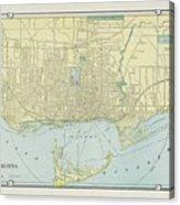 Vintage Map Of Toronto - 1901 Acrylic Print