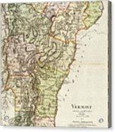 Vintage Map Of Vermont - 1797 Acrylic Print