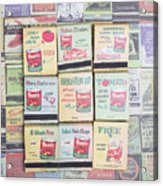 Vintage Matchbooks Acrylic Print