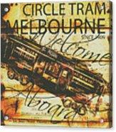 Vintage Melbourne Tram Tin Sign Acrylic Print