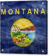 Vintage Montana Flag Acrylic Print