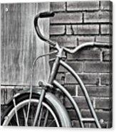 Vintage Montgomery Ward Bicycle 6 - B/w Acrylic Print