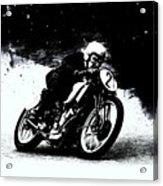 Vintage Motorcycle Racer Acrylic Print