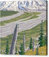 Vintage Mount St. Helens Travel Poster Acrylic Print