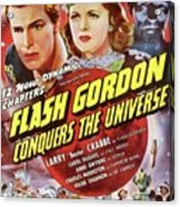 Vintage Movie Posters, Flash Godon Conquers The Universe Acrylic Print