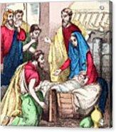 Vintage Nativity Scene Acrylic Print