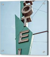 Vintage Neon Sign Hotel Livingston Montana Acrylic Print