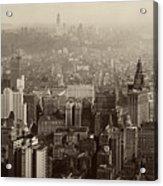 Vintage New York City Panorama Acrylic Print