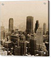 Vintage New York City Skyline Photograph - 1935 Acrylic Print