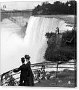 Vintage Niagara Falls - View From Goat Island - 1908 Acrylic Print