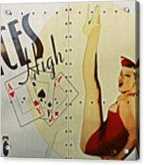 Vintage Nose Art Aces High Acrylic Print