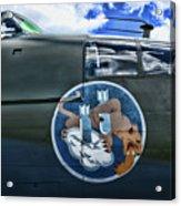 Vintage Nose Art B-25j Mitchell Acrylic Print
