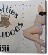 Vintage Nose Art Betties Bulldogs Acrylic Print