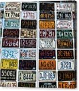 Vintage Number Plates Acrylic Print