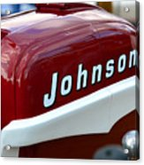 Vintage Johnson Outboard Red  Acrylic Print