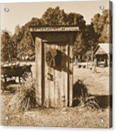 Vintage Outhouse  Acrylic Print
