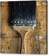 Vintage Paint Brush Acrylic Print