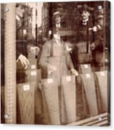 Vintage Paris Men's Fashion Acrylic Print