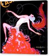 Vintage Paris Showgirl Acrylic Print