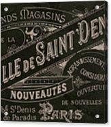 Vintage Paris Sign Acrylic Print