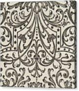 Vintage Parterre Design Acrylic Print