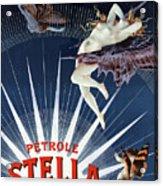 Vintage Petrole Stella Poster Acrylic Print