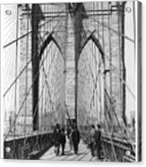 Vintage Photo Brooklyn Bridge Acrylic Print