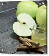 Vintage Photo Of Green Apples Acrylic Print