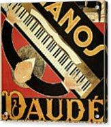 Vintage Piano Art Deco Acrylic Print