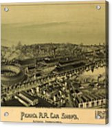 Vintage Pictorial Map Of Altoona Pa   Acrylic Print