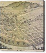 Vintage Pictorial Map Of El Paso Texas - 1886 Acrylic Print