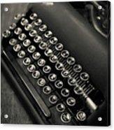 Vintage Portable Typewriter Acrylic Print